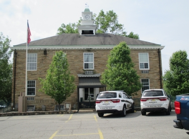 The County Court Clerk's office is located inside the front door and to the right.